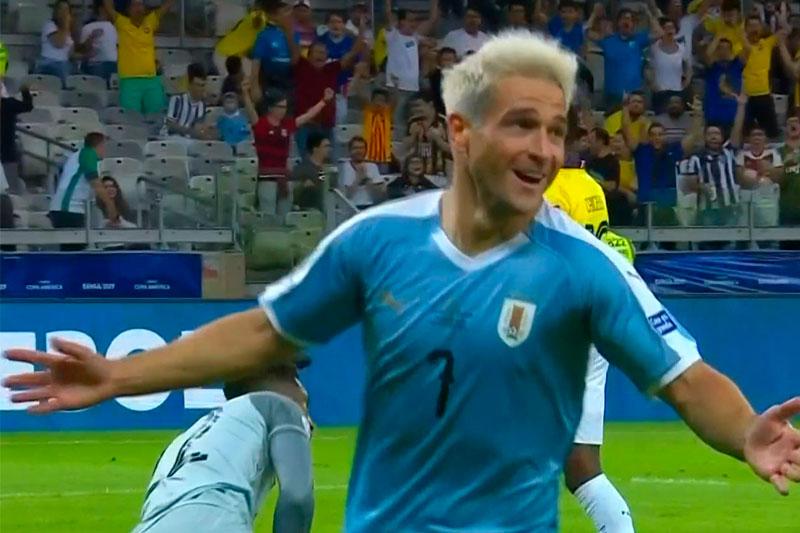 Bailó Lodeiro en el área para marcar el primer gol de Uruguay en la Copa América. Relata Víctor Hugo