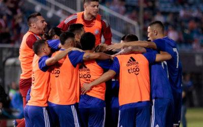 Apilada de Almiron por izquierda, centro y gol de Richard Sánchez para que Paraguay le esté ganando a Argentina por 1 a 0