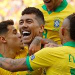 Segundo gol de Brasil. Lo hizo Firmino despuès de un desborde de Gabriel Jesùs. Brasil 2 - Argentina 0